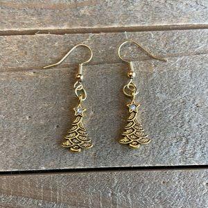 3 for $25 Handmade Gold Christmas Tree Earrings